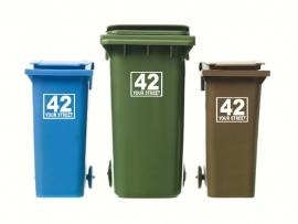 Wheelie Bin Numbers Sticker