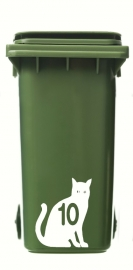Wheelie Bin Cat 1 Sticker