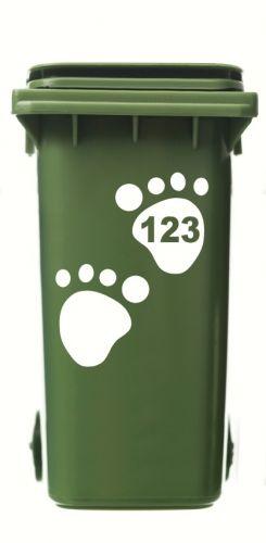 Wheelie Bin Bear Paws Sticker