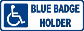 Vehicle Decal Blue Badge Holder