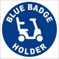 Vehicle Blue Badge Holder Scooter Decal