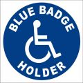 Vehicle Blue Badge Holder Wheelchair Decal
