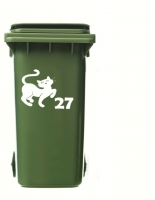 Wheelie Bin Cat 2 Sticker