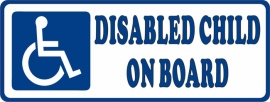 Disabled Child on Board Decal