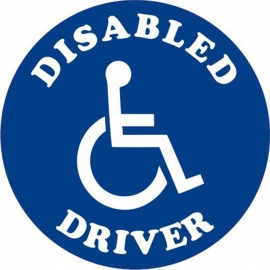Vehicle Disabled Driver Wheelchair Decal