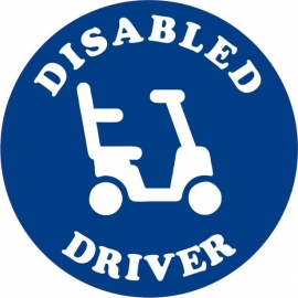 Vehicle Disabled Driver Scooter Decal