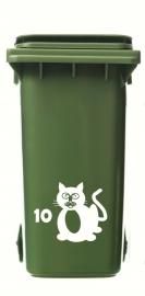 Wheelie Bin Cat 3 Sticker