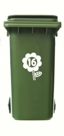 Wheelie Bin Flower Sticker