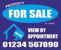 For Sale Sign Board X2