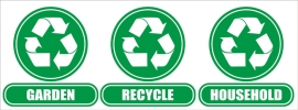 Wheelie Bin Recycle / Houshold / Garden Stickers