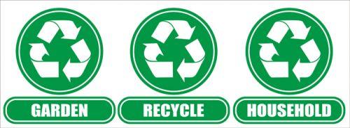 Wheelie Bin Recycle / Houshold / Garden Stickers
