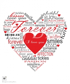 Forever Heart Typography Print