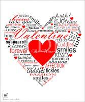 Valentine Heart Typography Print