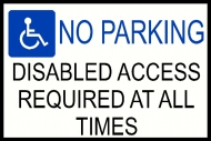 Disabled Parking Warning Sign