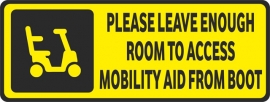 Vehicle Disability Mobility Aid Boot (Yellow)
