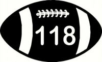 Wheelie Bin Rugby Ball Sticker