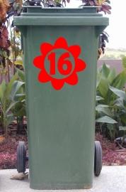 Wheelie Bin Flower Sticker1