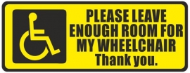 Vehicle Disability Wheelchair Parking (Yellow)